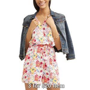 Pants - Flutter Sleeve Floral Romper